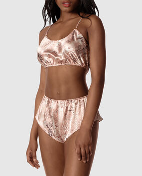 Satin Cropped Cami and Short Set