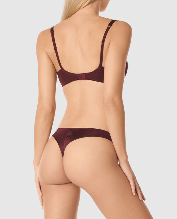 Lightly Lined Balconette Bra Espresso 2
