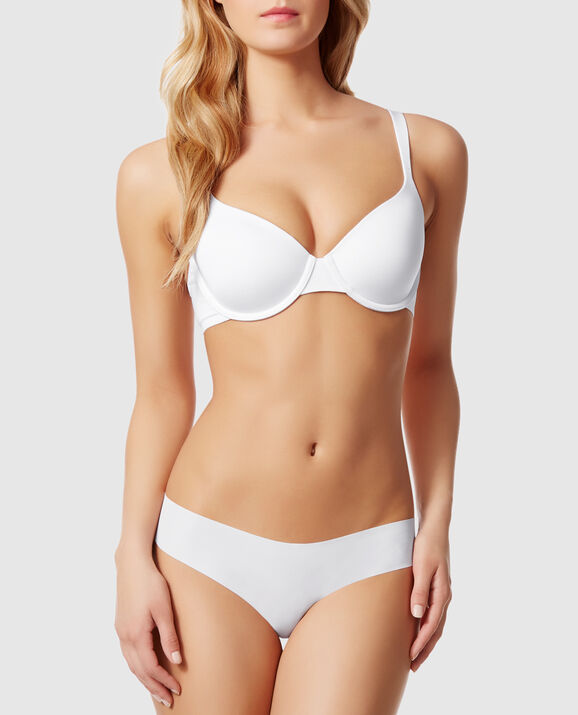 Lightly Lined Full Coverage Bra White 1