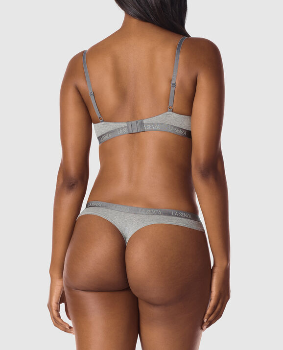 Lightly Lined Demi Bra Chill Grey Heather 2
