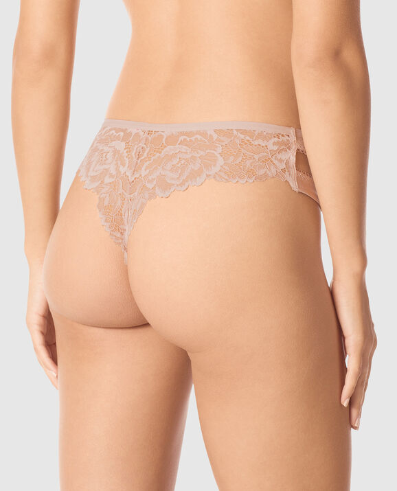 High Waist Thong Panty Flower Petal 2