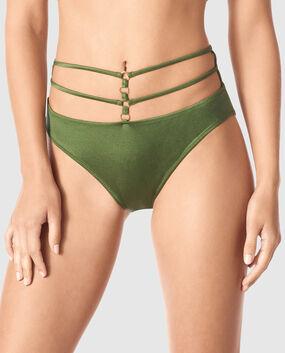 Strappy Bikini Bottom Black 1