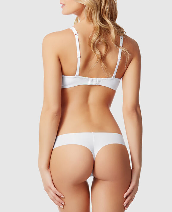 Lightly Lined Full Coverage Bra White 2