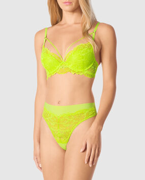 Lightly Lined Demi Bra Limelight 1