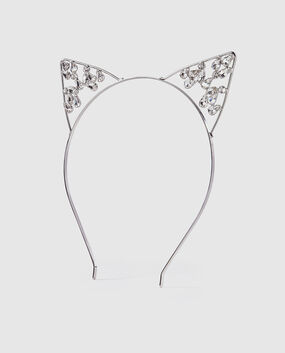 Rhinestone Kitty Ears