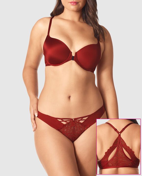 Front-Close Full Coverage Bra Scorched Chili 1