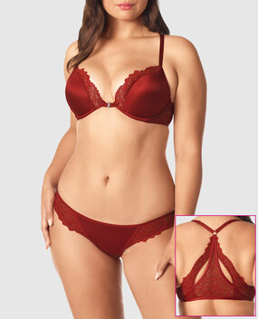 Front-Close Push Up Bra Scorched Chili 1