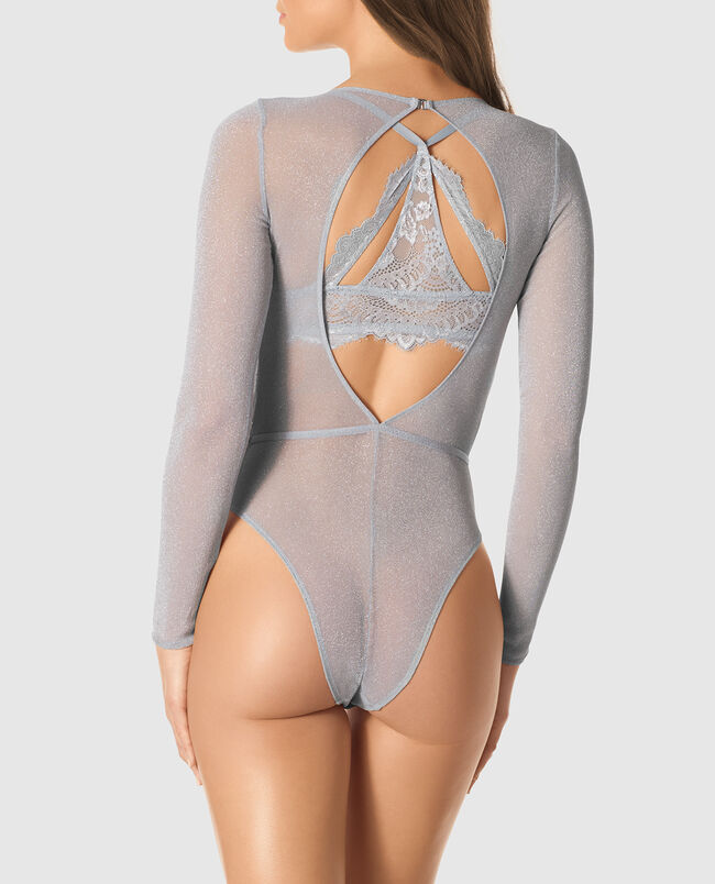 Long-Sleeve Shine Bodysuit