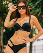 Push Up Bikini Top Smoulder Black 1