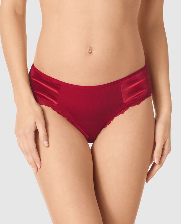 Bumless Brazilian Panty Red Lacquer 1