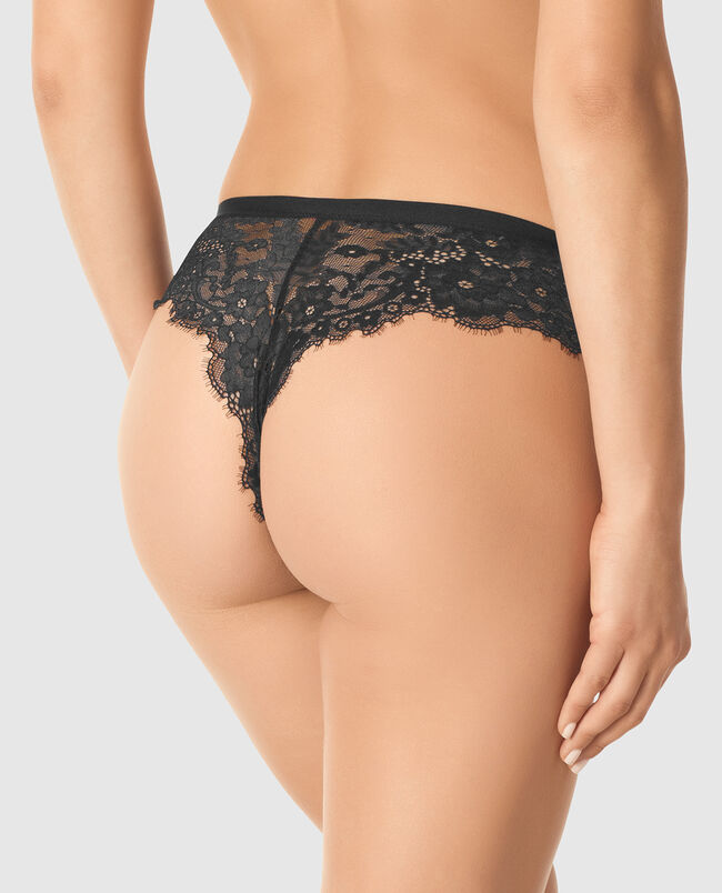 High Waist Thong Panty