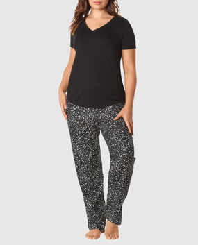 The Cozy Pajama Set Black Star 1
