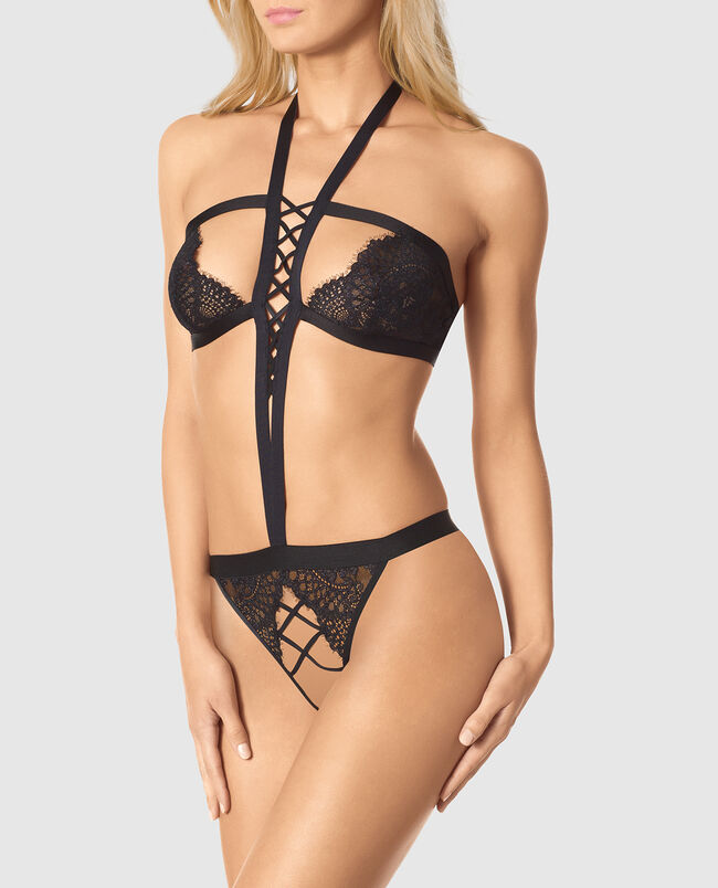 Crotchless Barely-There Bodysuit