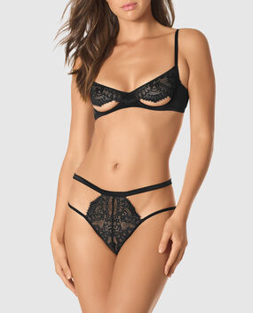 Unlined Cut-Out Lace Bra