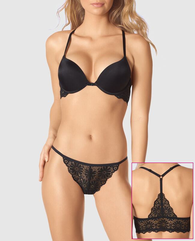Front-Close Push Up Plunge Bra