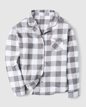 Flannel Button Down Pajama Shirt