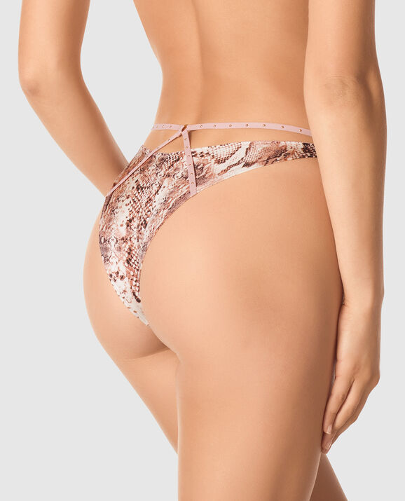 High Leg Cheeky Panty Perfect Python 2