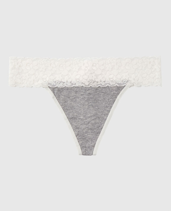 Thong Panty Coconut White 1