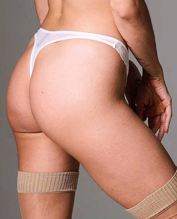 Kane Cut-Out Thong Panty White 2