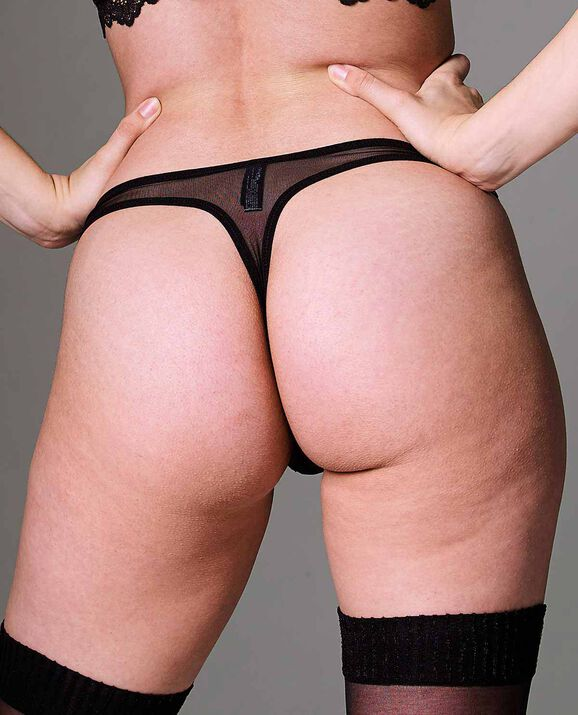 Kane Cut-Out Thong Panty Smoulder Black 2