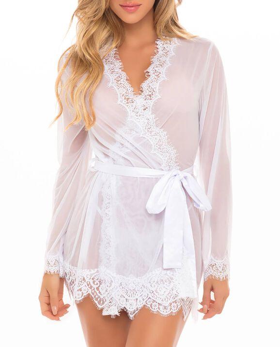 Sheer Kimono White 1