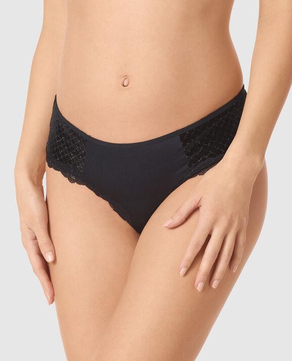 Bumless Brazilian Panty Dreamy Black Diamond 1