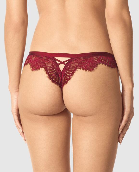 Thong Panty Sangria Red 2