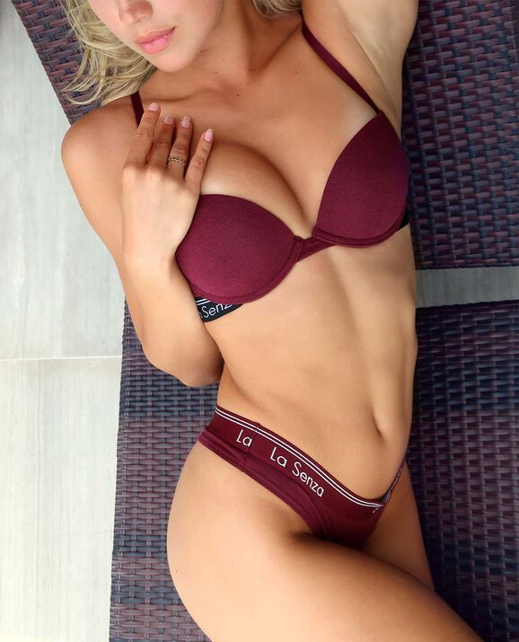 Push Up Bra Heather Merlot 1