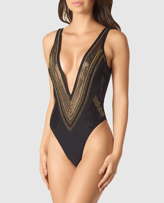 Unlined Bodysuit with Sequins