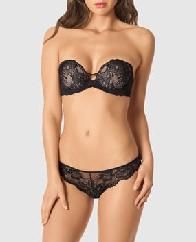 Strapless Push Up Bra Smoulder Black 1