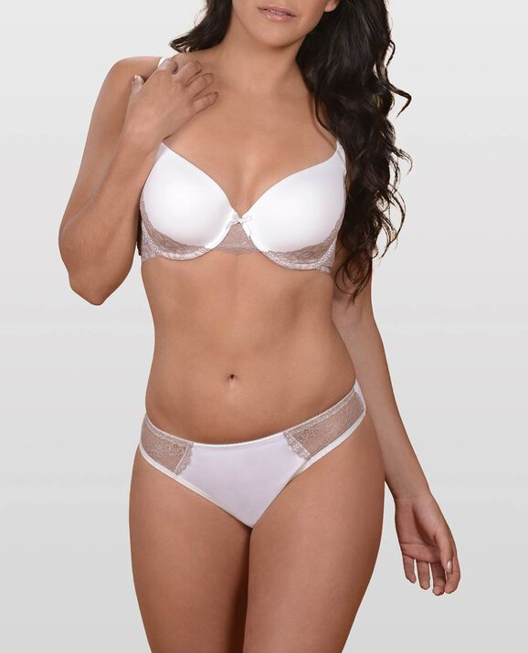 The Flawless Lace Side Bra White 1