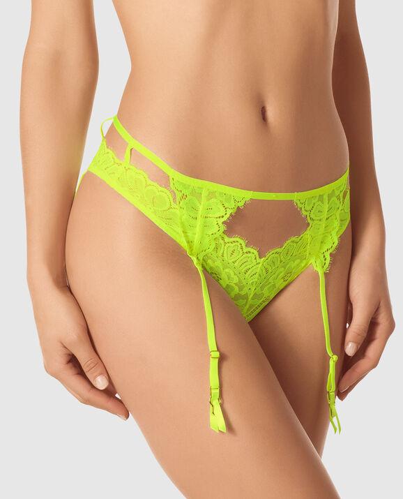Cheeky Lace Garter Panty Sirio 1