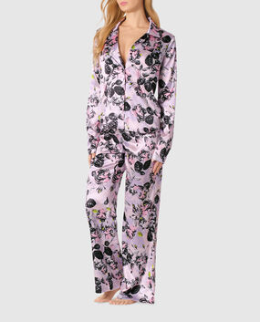 Satin Pajama Set Alice Floral 1
