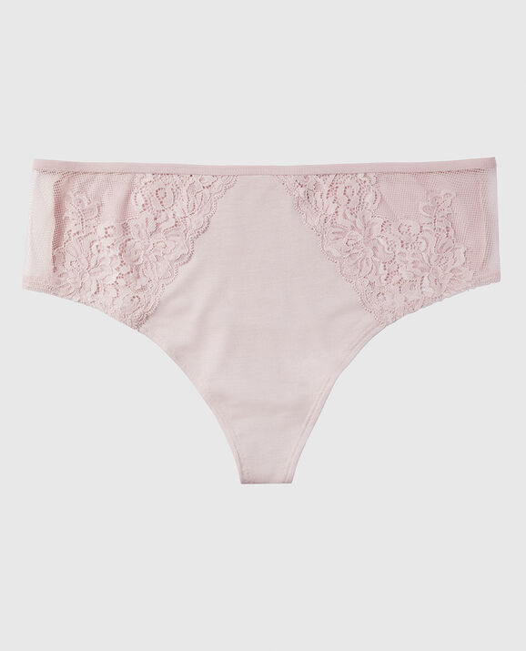 High Waist Thong Panty Iced Lilac 1