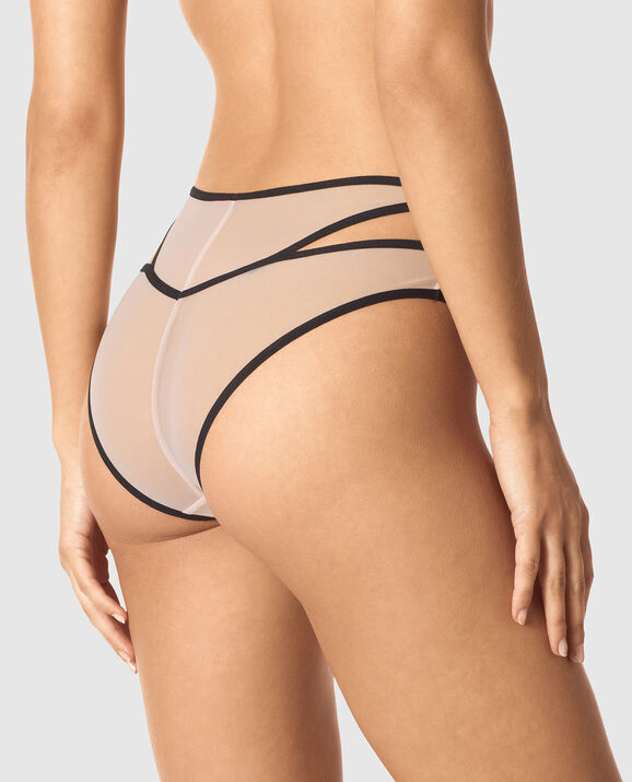 High Waist Cheeky Panty Pink Morganite 2