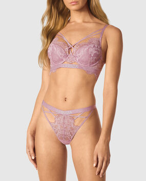 Lightly Lined Demi Bra Soft Mauve 1