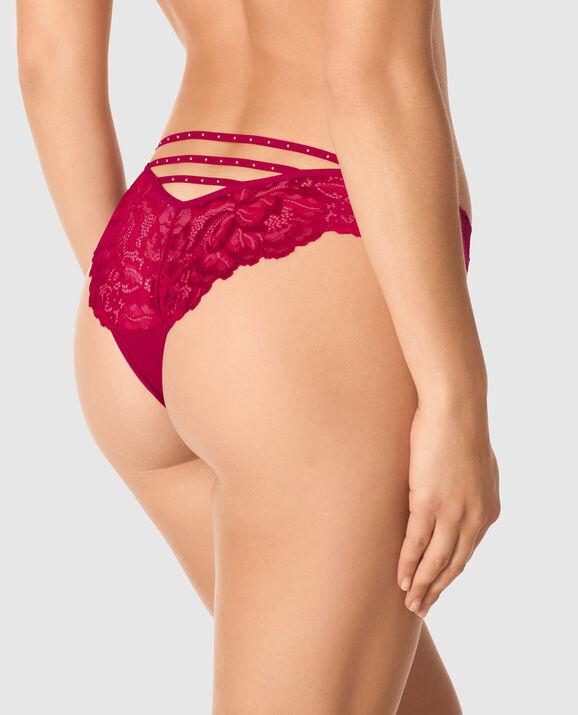 V Front Brazilian Panty Razzleberry 2