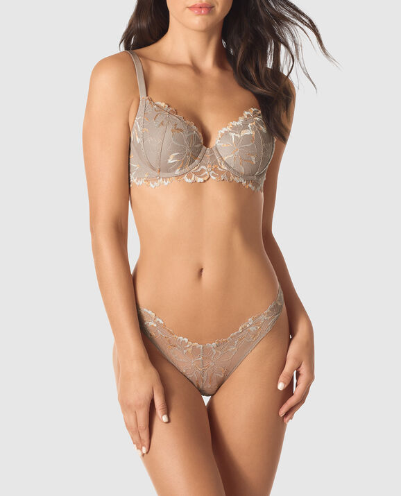Lightly Lined Full Coverage Bra Sable Smoke 1