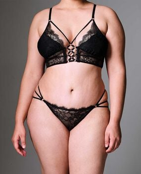Constellation Long Line Bra Smoulder Black 1