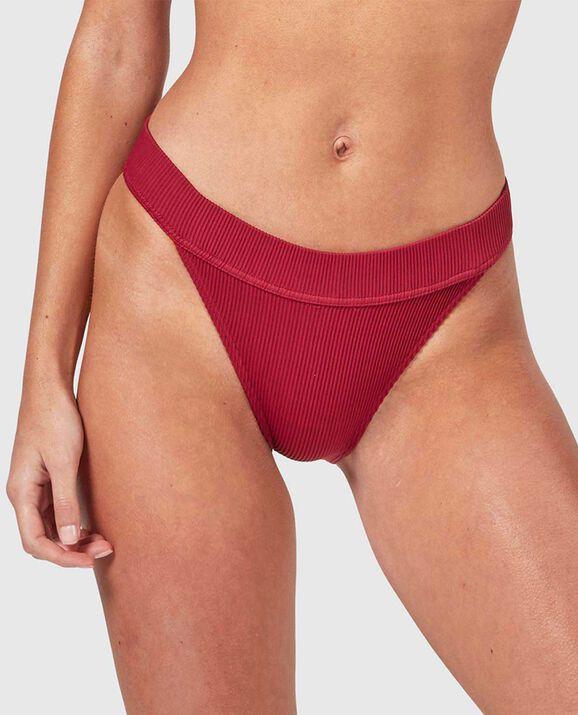 High Leg Bikini Bottom Ruby 1