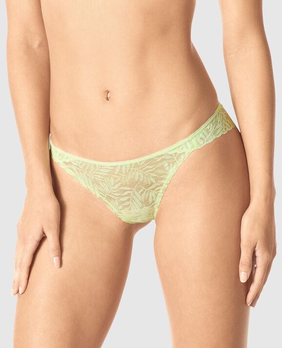 Cheeky Panty Sheer Lime 1
