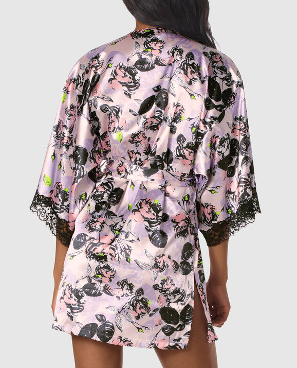 Satin Kimono Alice Floral 2