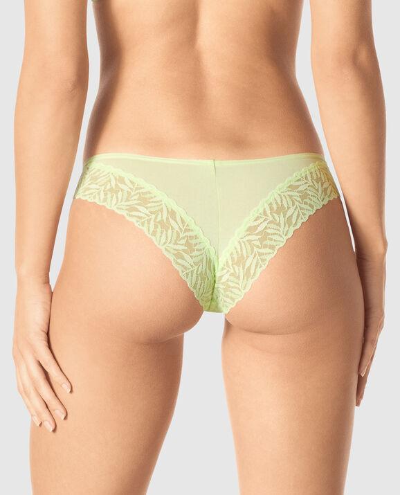 Cheeky Panty Sheer Lime 2
