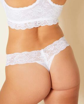 Cutie Low Rise Thong Panty Rose Tan 1