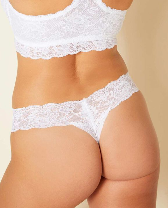 Cutie Low Rise Thong Panty White 1