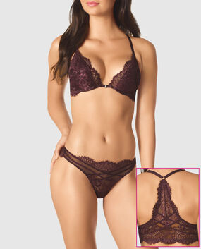 Front-Close Push Up Bra Currant 1