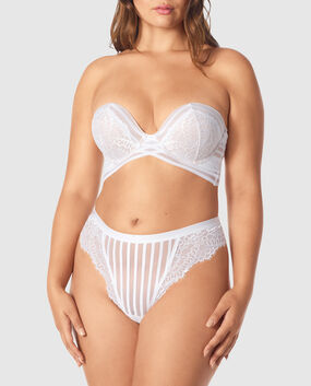 Strapless Up 2 Cup Push Up Bra White 1