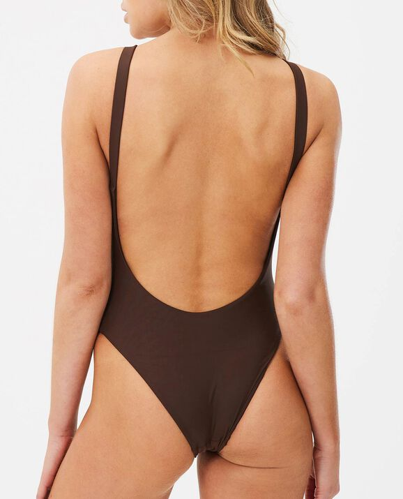 V Neck One-Piece Decadent Chocolate 2