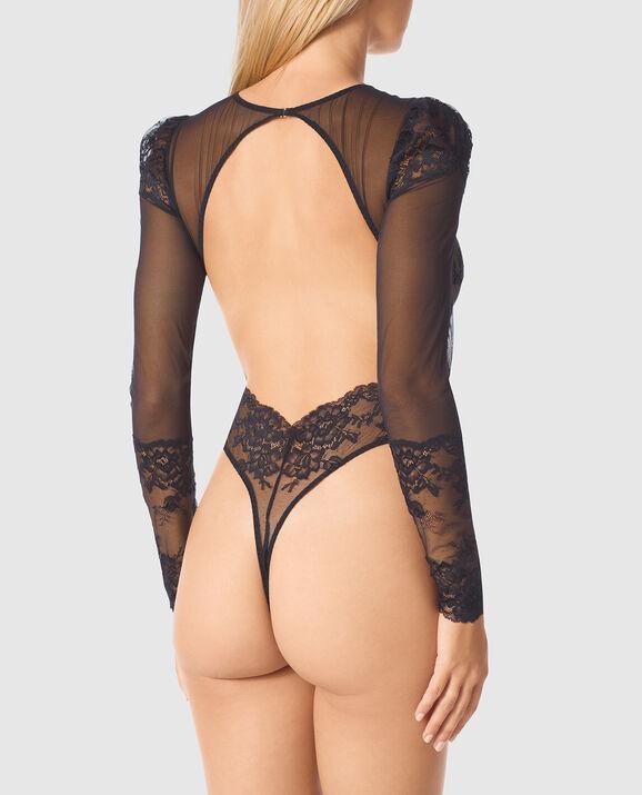 Long Sleeve Bodysuit Smoulder Black 3