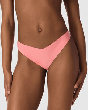 High Leg Thong Panty Candy Coral 1